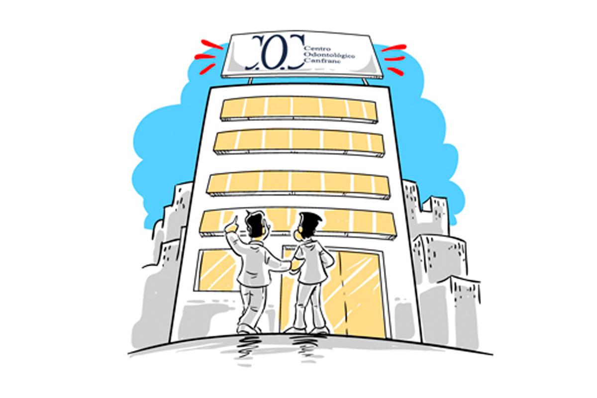 Centro Odontológico Canfranc. Clínica Dental en Zaragoza. Cartoon. Caricatura